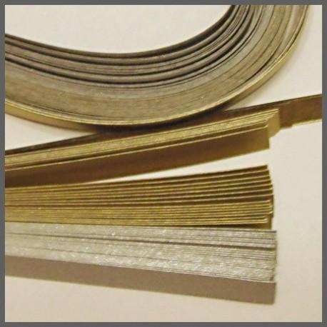 Set barevných proužků - stříbrozlatý