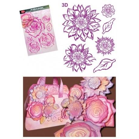 Transparentní razítka 3D Květ Amelie