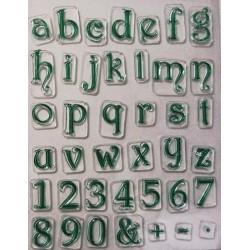 Transparentní razítka Písmena malá (D46)
