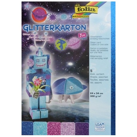 Glitter karton - sada Ice