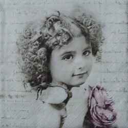 Dívka a písmo 33x33