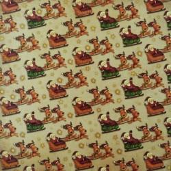 Santa a sáně, na ploše 30,5x30,5 designový papír