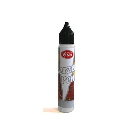 Tekutý vosk - pero 25ml Stříbrná