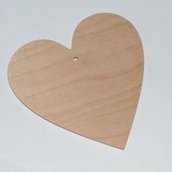 Srdce dřevěné k zavěšení - menší 10x10