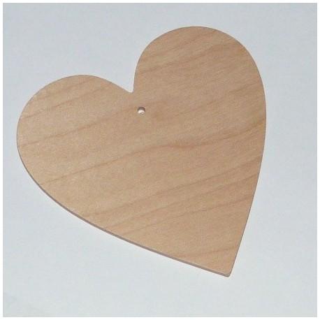 Srdce dřevěné k zavěšení - menší