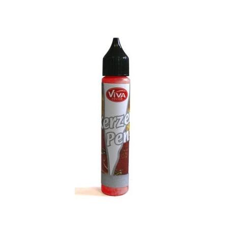 Tekutý vosk - pero 25ml Červená