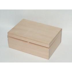 Dřevěná krabička se sametem uvnitř