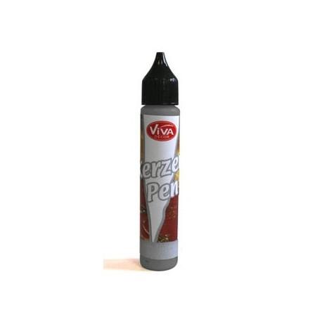 Tekutý vosk - pero 25ml Černá