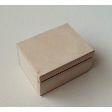 Dřevěná krabička se sametem uvnitř - menší