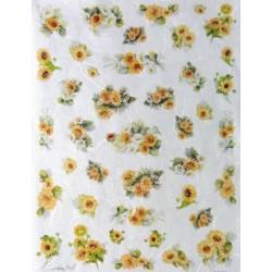 Papír rýžový mini 33x24 Kytičky slunečnic