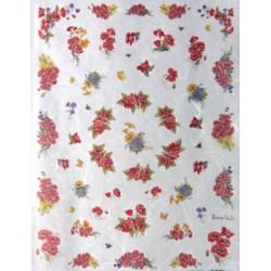 Papír rýžový mini 33x24 Kytičky vlčích máků