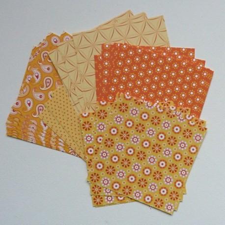 Origami papírky 10x10 Basic žlutý