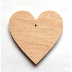 Srdce dřevěné k zavěšení - 7x7