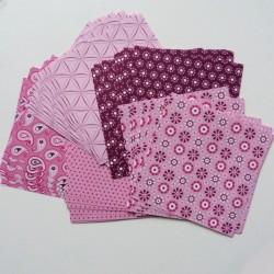 Origami papírky 10x10 Basic růžový