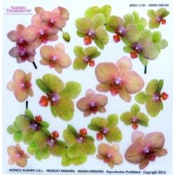 Sospeso fólie 24x24 - orchidej zelená