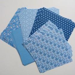 Origami papírky 15x15 Basic modrý