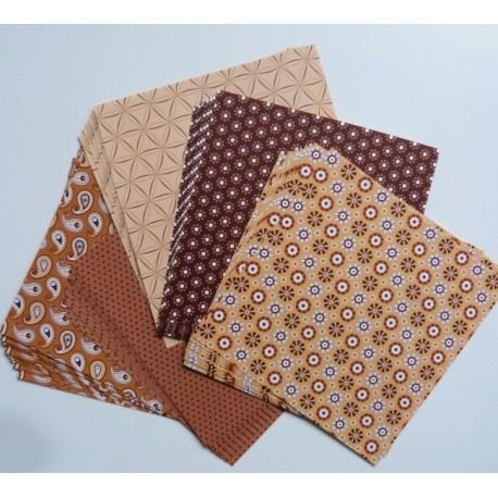 Origami papírky 15x15 Basic hnědý