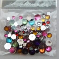 Kreat.doplněk kamínky mix perličky 120ks