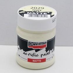 Akrylová barva Pentart 230ml - slonová kost, matná