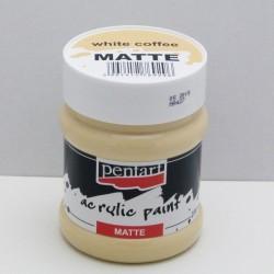 Akrylová barva Pentart 230ml - bílá káva, matná