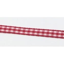 Stužka 7mm káro - červená