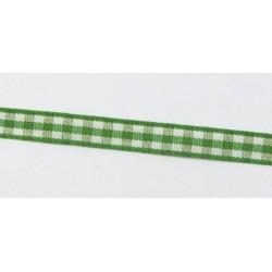 Stužka 7mm káro - zelená