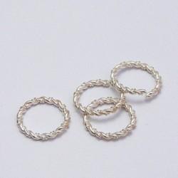 Ozdobný kroužek 2cm, stříbrná barva