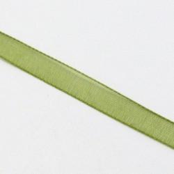 Stuha šifónová 6mm - olivová zelená