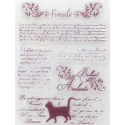 Transp.razítka - Kočka a různé texty