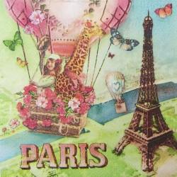 Paříž s balónem 33x33