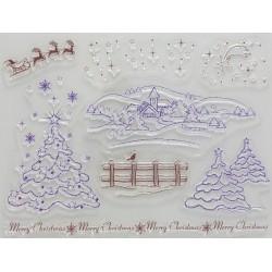 Transp.razítka D86 Vánoční krajina