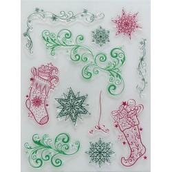 Transp.razítka D71 Vánoční ponožky