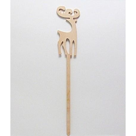 Dřevěný sob - zápich