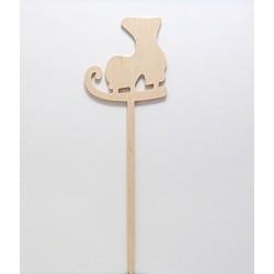 Dřevěná brusle - zápich