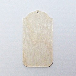Destička - visačka 7,5x4cm