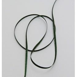 Stužka s lurexem 3mm - zelená