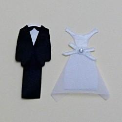 Ženich a nevěsta - textilní dekorace