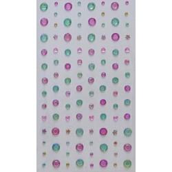 Samolepící kamínky Směs - růžovozelené