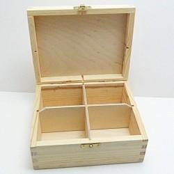 Krabička na čaj 4 komory, kování
