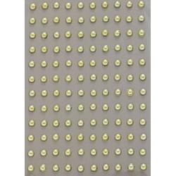 Kamínky perličky 3mm, samolepící zlaté