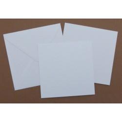 Přáníčko čtvercové, vložený list, obálka - bílá