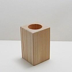 Dřevěný svícen vysoký (hranatý)