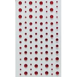Samolepící kamínky Směs - červené
