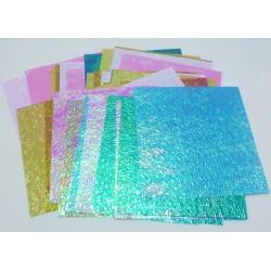Origami papírky 14x14 opalizující krystaly