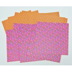 Origami papírky 10x10 Motýlci, růžovo-oranžové