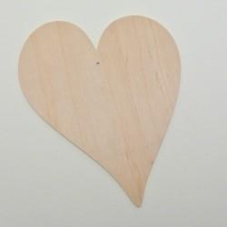 Srdce dřevěné k zavěšení - nepravidelné
