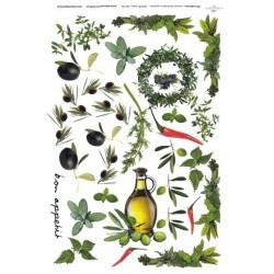 Papír rýžový A4 Olivový olej