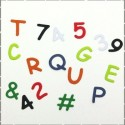 Čísla, písmena, texty, znaky