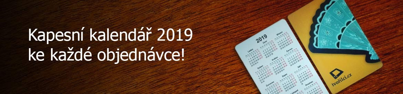Kapesní kalendář 2019 ke každé objednávce